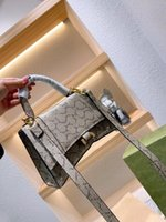 Original style ladies fashion bag luxury designer 100% leather personality fashions all-match chain one-shoulder atmospheric messenger bags with box
