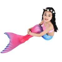 Kinder 2020 Girls Bikini Mermaid Badeanzug Schwanzeshow Kostüm