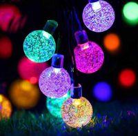 25mm LED Solar String Light Garland Decoratie 8 Modellen 20 Heads Crystal Bollen Bubble Ball Lamp Waterdicht voor Outdoor Garden GWA9193