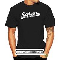 Men's T-Shirts Letra De Impressão Satan É Meu Pai Mulher Camiseta Feminina Sexy Verão Colheita Superior Casual Preto T Camisa