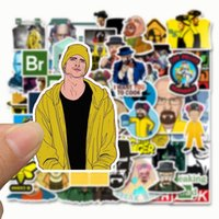 DHL 50 pcs lot Car Stickers Breaking Bad For Laptop Skateboard Pad Bicycle Motorcycle PS4 Phone Luggage Decal Pvc guitar Stickers