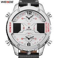 Relojes de pulsera Weide Weide Relojes para hombre Top Reloj de pulsera Reloj de cuarzo a prueba de agua Correa de cuero Reloj Masculino Relogio Masculino