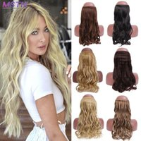 """Synthetic Wigs MSTN 22"""" Curly Fake Hair Invisible Wire Ombre Blonde Black Pink Natural False"""