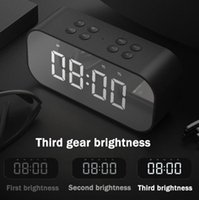 Other Clocks & Accessories Alarm Clock Digital With Snooze Function Wireless Bluetooth Speaker Color Luminous Led Mirror Reveil