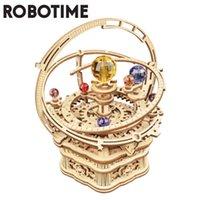 Robotime 84pcs girevole fai da te 3d stellato notturno notturno di legno puzzle gioco assemblaggio box musicale regalo per bambini bambini adulti Amk51 210417