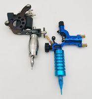 Новый татуировочный пулемет ручной работы стальной железный утюг 8COILS и 1 шт. Ротарное стрекоза синего цвета вкладыша с 2 шт. Руконькие трубки без держателя для новичков наборов татуировки