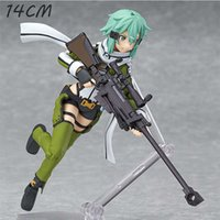 2 Stil Anime Sword Art Online Asada SHINO Hand Hold Pistole Schreibtisch Auto Kuchen Action Figure Modell Dekoration Sammlung Kind Geschenk G0911