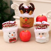 Christmas Decorations Gift Bags Drawstring Xmas Candy Santa Sack Backpack For Party Favor Kids Colleagues Friend Families