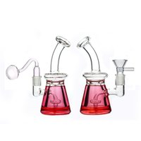 new arriver smoking pipes Glass beaker Bong with birdcage perc filter Thick Pyrex glycerin Bongs Recycler Dab Rigs with oil burner pipe