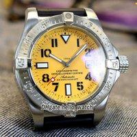 Tasarımcı Saatler 45mm Diver Pro A1733110 | I519 | 152S | A20SS.1 Otomatik Sarı Kadran Erkek İzle Çelik Kılıf Kauçuk Kayış Spor İndirim