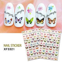 1sheet Colorful Nail Sticker Paper Butterfly Pattern Transfer Beautiful Decals Decoration Art Wraps DIY Design Accessories1