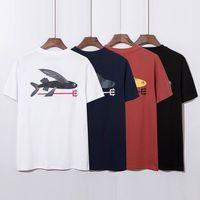 Patagonia shark print hip hop Unisex casual crew neck short sleeve T-shirt
