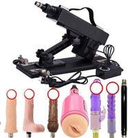 Akkajj Giocattolo automatico del sesso per il massaggio della mitragliatrice della macchina di spinta Unsex con gli allegati