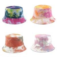 الأزياء المتناثرة التعادل صبغ عكسها الصيف القبعات الشمس للنساء الرجال الصيد قبعة كتابات الهيب هوب دلو قبعة