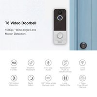 Smart Video Doorbells T8 1080P Wireless Security USB Charging WiFi Visual Infrared High Definition Cloud Storage Night Vision Door Bell