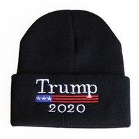 Fuerza Trump Tapa de lana 2020trump Bordado gorra de punto, cabeza térmica Hip Hop Hat 0D6M