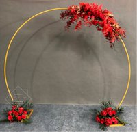 White gold U heart  round ring shape Metal Iron Arch Wedding decor Backdrop stand party artificial Flower balloon shelf