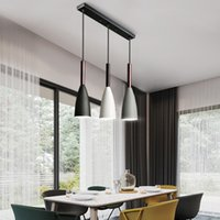 Современные 3 подвеска освещения Nordic минималистские подвесные светильники на столовом столе Кухонные острова Висячие лампы столовая освещает E27