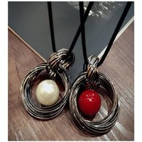 Tassel Pendant Necklace Geometric Acrylic Charm Long Chain Statement Gold Metal Fringe For Women Necklaces