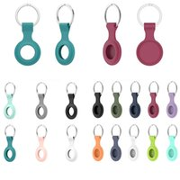 Soft TPU Силиконовые защитные чехлы для Airtag Anti-Tobly Header Finder Keychain Tracker Protect Cover с пряжкой царапин