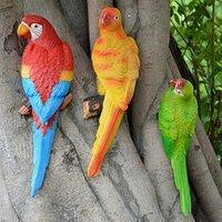 Giardino Simulation Parrot Decoration Miniature Scultura in resina Artigianato Fairy Outdoor Animal Accessori per animali Decorazioni