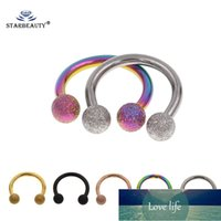 Barefoot Sandals Starbeauty 2Pcs Mix Color 16G Gauge 3mm 316L Surgical Steel Piercing Horseshoe Circular Rings for Nose Eyebrow Lip Ear Stud