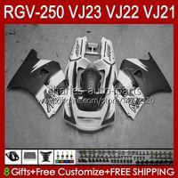 SUZUKI RGV250 SAPC VJ23 RVG250 250CC VJ 23 COWLING RGV-250CC 97 98 Bodywork 107HC.006 RGV-250 화이트 그레이 블크 패널 RGVT-250 RGVT RGV 250 CC 1997 1998 Bodys