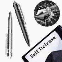 Self Defense Woman Tactical Pen Aluminum Alloy Ball Pen Window Breaker Broken Glass Protection Weapons Survival Accessories