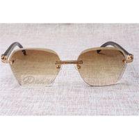 2021 Novo estilo de alta qualidade na moda diamante preta gado chifre óculos de sol 8100909 Lente de prata marrom para homens e mulheres, tamanho: 60-18-140mm