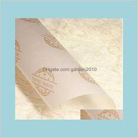 Presente Envoltório Festa de Evento Fontes Festivo Home Jardim Atacado 100 pçs / lote azul Flor Flor Sabonete Papel Wrap Tissue Wrapper