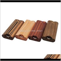 Cases Accessories Household Sundries Home Garden Drop Delivery 2021 Wood Dugout One Hitter Smoking Pipe Kit 4 Colors Dry Herb Tobacco Box Cig