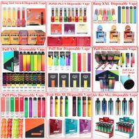 Puff Plus плюс аккумуляторные одноразовые электронные сигареты Bang XXL Vape Pen Pods Pods 1000 2000 3300 Puffs Vaporizer ручки электронные сигареты
