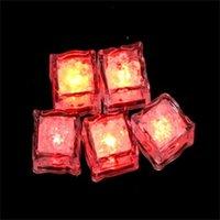 AOTO 색상 미니 낭만적 인 빛나는 큐브 LED 인공 아이스 큐브 플래시 LED 라이트 웨딩 크리스마스 파티 장식 530 S2