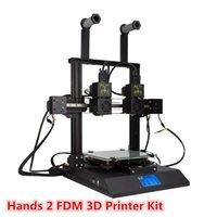 Hands 2 FDM 3D Printer Kit With 3.5 Inch Colorful Screen Dual Extruder & Nozzle Powerful Mainboard Modular Xaxis Extrusion Motor Printers