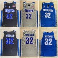 Üst kalite ! 32 James Wiseman Jersey Memphi Kaplanları Derrick Gül Lisesi Film Koleji Basketbol Formaları Yeşil Spor Gömlek S-XXL
