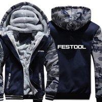 Men's Hoodies & Sweatshirts 2021 Festool Tools Camouflage Sleeve Jacket Hoody Zipper Winter Fleece Sweatshirt Man Coat