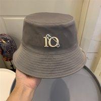 Wide Brim Hat Letter Embroidery Womens Mens Secchio Cappelli Bonnet Fashion Estate Caps Cappelli Donne da uomo Casquette 210564V