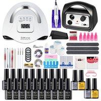 Nail Art Kits Lamp Set Multiple UV Gel Polish Drying Manicure Acrylic Kit With High Quality Drill Machine