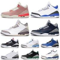 Nike Air Jordan Retro 3 Jordans Jumpman AJ 3S III Georgetown UNC Cool Grey Knicks Rivals Black Cement White Ture Blue أحذية كرة السلة للرجال والنساء   احذية رياضية رياضية   أحذية