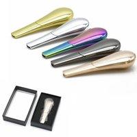 Löffel Raucherpfeife Tragbare Kreative Metallkraut Tabak Zigarettenrohre Handschaufel Rauch mit Geschenkbox