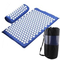 YOGA ACUPRESSURE MAT MAT Body Soulager Stress Tension ABS ABS SPIKE ACUPRESSURE Massage Relaxation Douleur Mat SQceyh Home2006