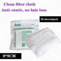 Professional Hand Tool Sets KAISI 50pcs lot Dust-free Cloth Anti-static Microfiber Wiping Clean For Mobile LCD Laptop Screen LED Lamp Cleani