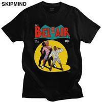 Mizah Taze Prens Bel Air T Gömlek Erkekler Kısa Kollu 90s Sitcom Koedy TV T-shirt Saf Pamuk Grafik Tee Fan Malları