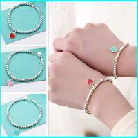 Original Moda Classic 925 Sterling Silver Love Bracelete Multicolor Opcional Mulher Jóias Presente de Férias