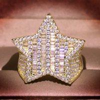 Hip Hop Yüksek Kalite Vintage Moda Takı 925 Ayar Gümüş Prenses Kesim Beyaz Topaz CZ Elmas Kadınlar Düğün Band Yüzük Hediye 28 J2
