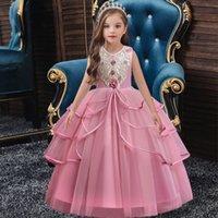 flower girl dress elegant ball gown wedding birthday party girl dresses long princess dress