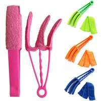 5 Color Three Tooth Shutter Cleaning Brush Multifunction Removable And Washable Air Conditioning Gap Dust Removal Brushes CCF7850