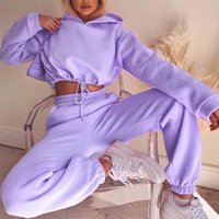Fashion Womens Two Piece Pants Long Sleeve Sports Leisure Suit for Women Outdoor Running Wear Various Colors and Styles