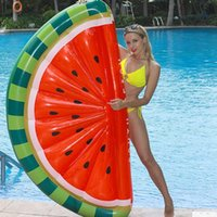Inflatable Floats & Tubes Float Swimming Ring Floating Row Circle Beach Pool Party Swim Air Mattresses Watermelon Mattress