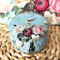 Lid Floral DIY Making kit Holder Storage Case for Dry Spices Camping Party Favor and Sweets Round Gift Box HHE6292